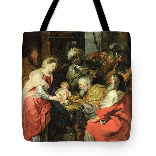 Adoration Of The Magi, 1626-29 Oil Canvas Tote Bag