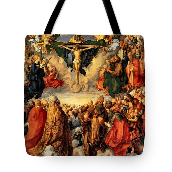 Adoration Of The Trinity Tote Bag by Albrecht Durer
