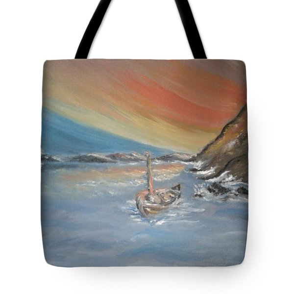 Tote Bag featuring the painting Adrift by Teresa White