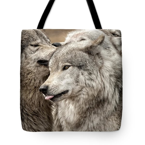 Adult Timber Wolf Tote Bag