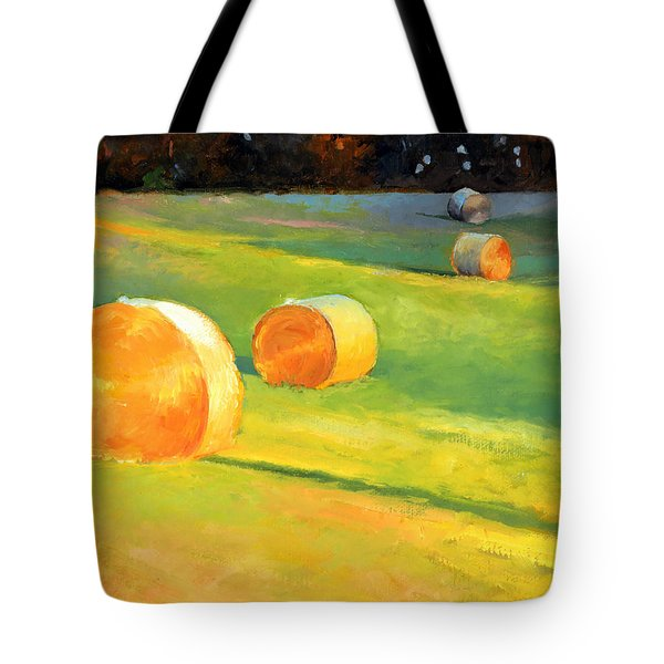 Advance Mills Hall Bales Tote Bag
