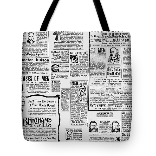 Advert - Edwardian Mens Health Tote Bag