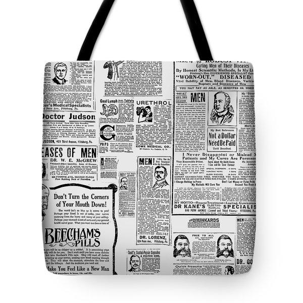 Advert - Edwardian Mens Health Tote Bag