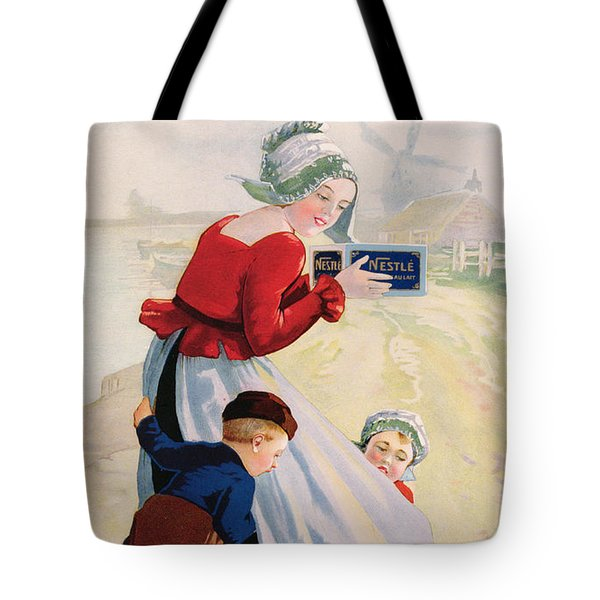 Advertisement For Chocolat Au Lait Tote Bag by Anonymous