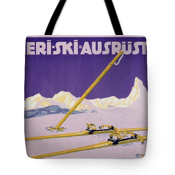 Advertisement For Skiing In Austria Tote Bag by Carl Kunst
