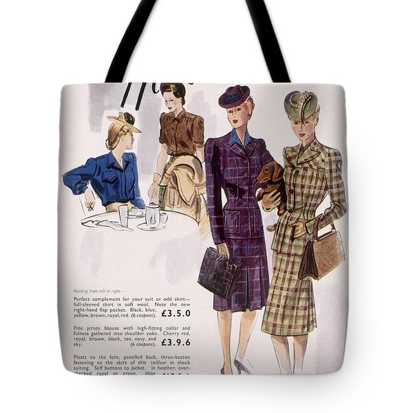 Advertisement For Womens Blouses Tote Bag
