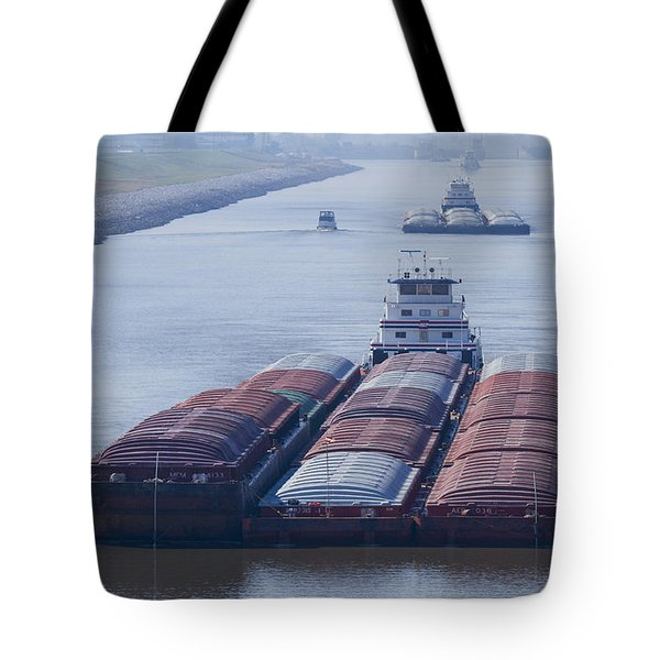 Aep Tow Passing Through The Chain Of Rocks Canal Tote Bag