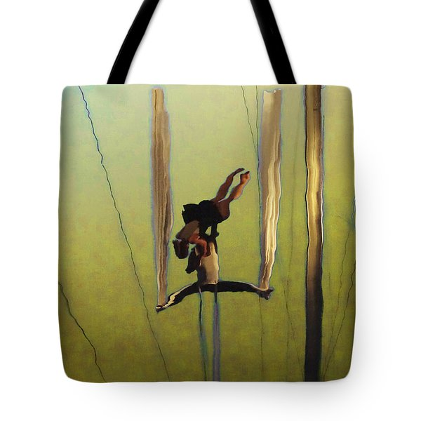 Aerial Acrobatic Artistry2  Tote Bag by Anne Mott