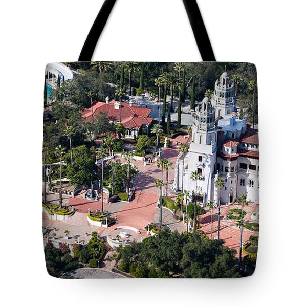 Aerial View Of A Castle On A Hill Tote Bag