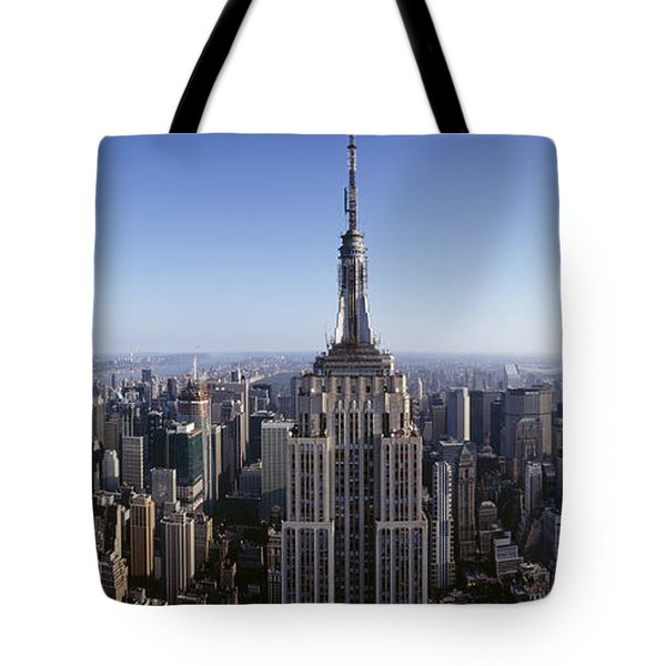Aerial View Of A Cityscape, Empire Tote Bag by Panoramic Images