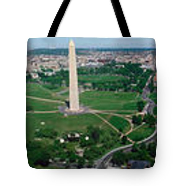 Aerial View Of A Monument, Tidal Basin Tote Bag