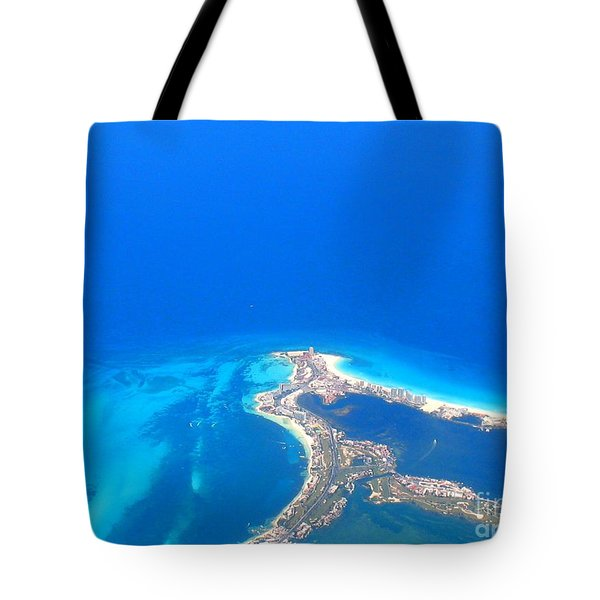 Aerial View Of Cancun Tote Bag by Patti Whitten