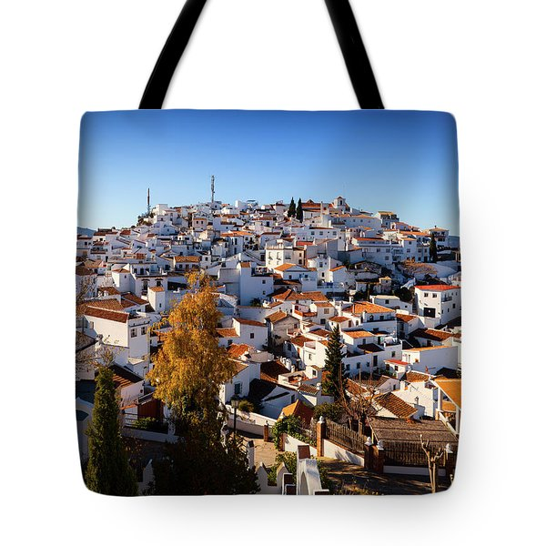 Aerial View Of Comares Village, One Tote Bag