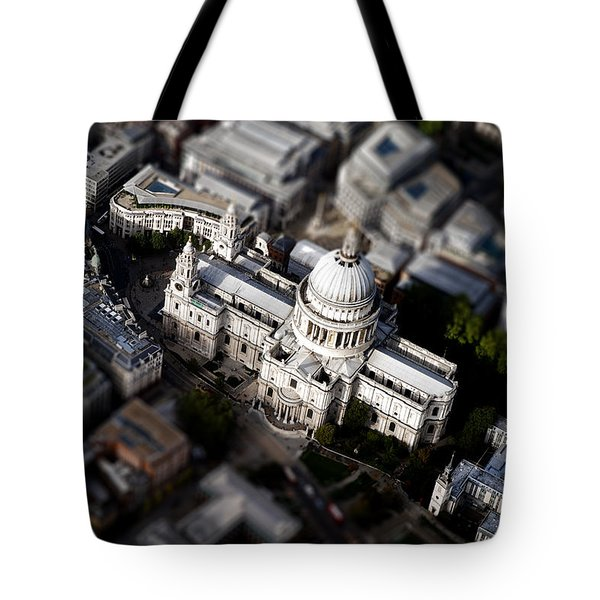 Aerial View Of St Pauls Cathedral Tote Bag by Mark Rogan