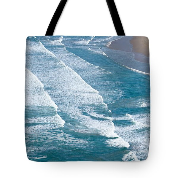 Aerial View Of Surf On The Beach, Pismo Tote Bag