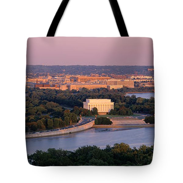 Aerial, Washington Dc, District Of Tote Bag