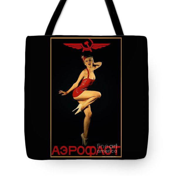 Aeroflot Tote Bag by Cinema Photography