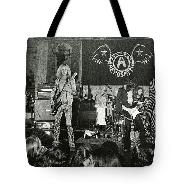 Aerosmith - Aerosmith Tour 1973 Tote Bag by Epic Rights