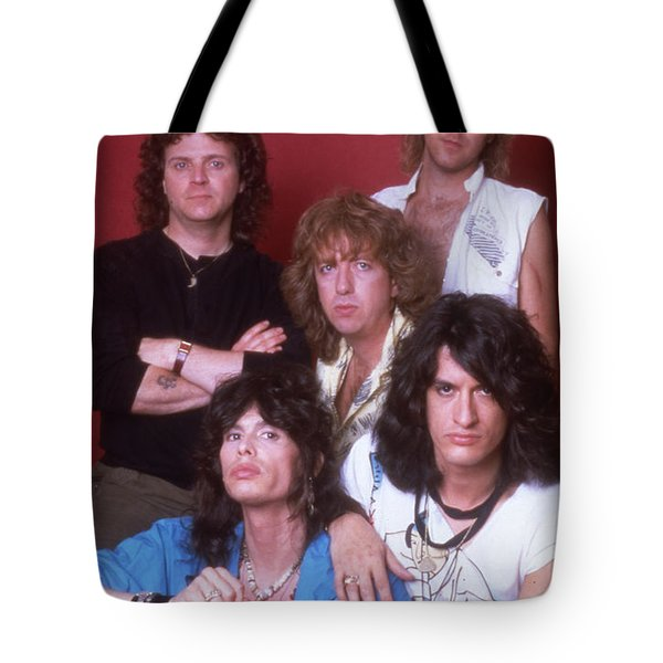 Aerosmith - Back In The Saddle 1984 Tote Bag by Epic Rights