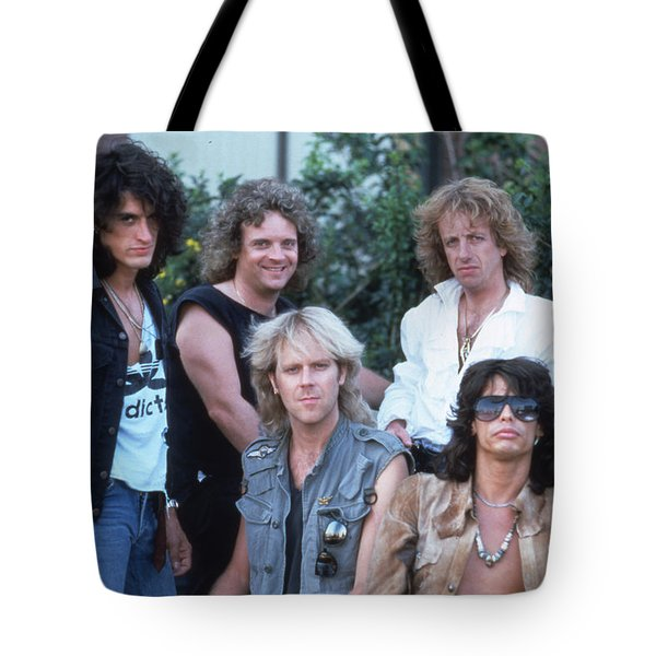 Aerosmith - Bad Boys From Boston 1970s Tote Bag by Epic Rights