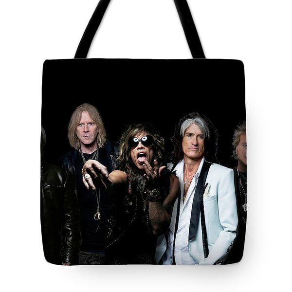 Aerosmith - Global Warming Tour 2012 Tote Bag by Epic Rights