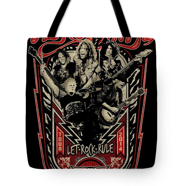Aerosmith - Let Rock Rule World Tour Tote Bag by Epic Rights