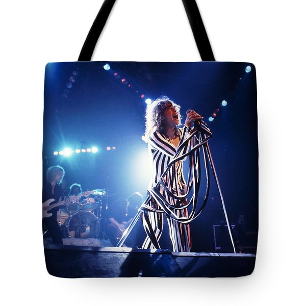 Aerosmith - Pinstripes And Love Bites 1970s Tote Bag by Epic Rights