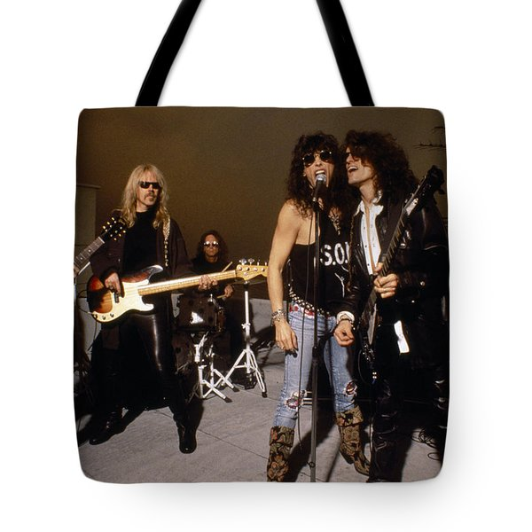 Aerosmith - Rooftop Blues 1990s Tote Bag by Epic Rights