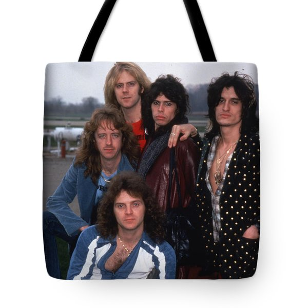 Aerosmith - Terre Haute 1977 Tote Bag by Epic Rights