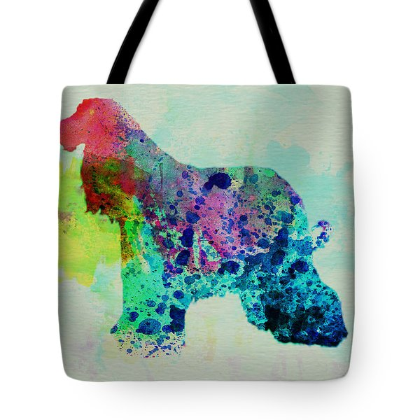 Afghan Hound Watercolor Tote Bag by Naxart Studio