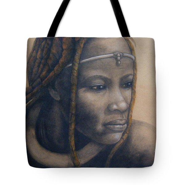 Afican Woman Tote Bag