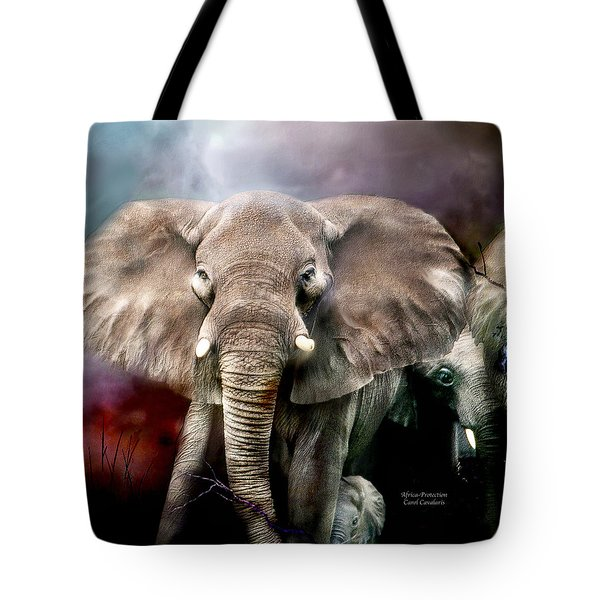 Africa - Protection Tote Bag by Carol Cavalaris