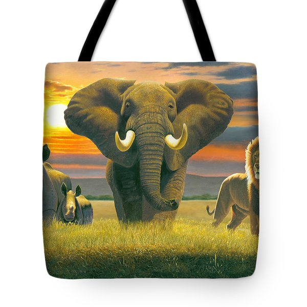 Africa Triptych Variant Tote Bag by Chris Heitt
