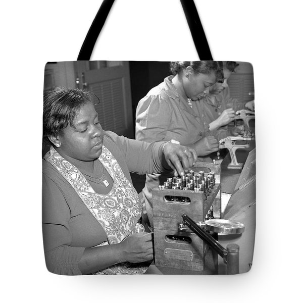African American War Workers Tote Bag