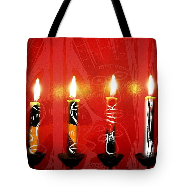 African Candles Tote Bag