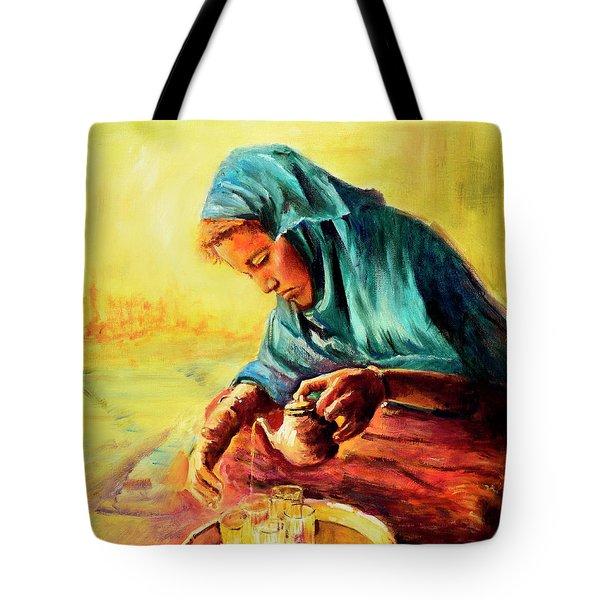 African Chai Tea Lady. Tote Bag
