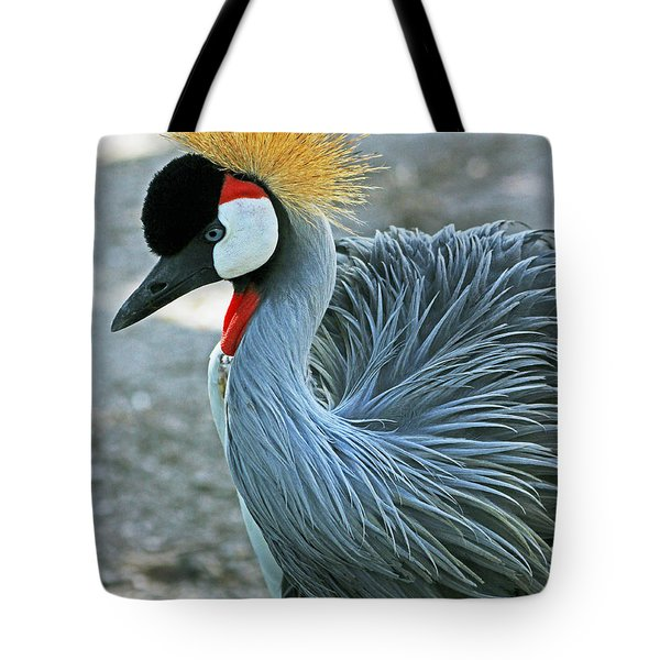Tote Bag featuring the photograph African Crane by Larry Nieland