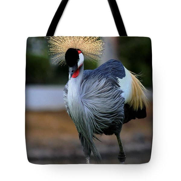 African Crowned Crane Running Tote Bag