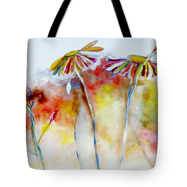 African Daisy Abstract Tote Bag