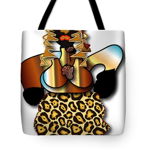 Tote Bag featuring the digital art African Dancer 2 by Marvin Blaine