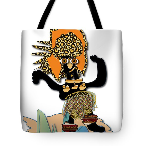Tote Bag featuring the digital art African Dancer 6 by Marvin Blaine