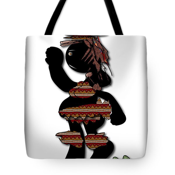 Tote Bag featuring the digital art African Dancer 7 by Marvin Blaine