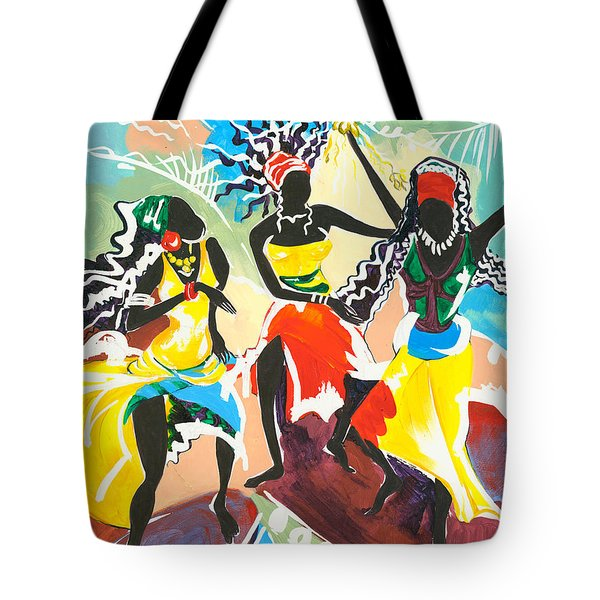 African Dancers No. 4 Tote Bag by Elisabeta Hermann