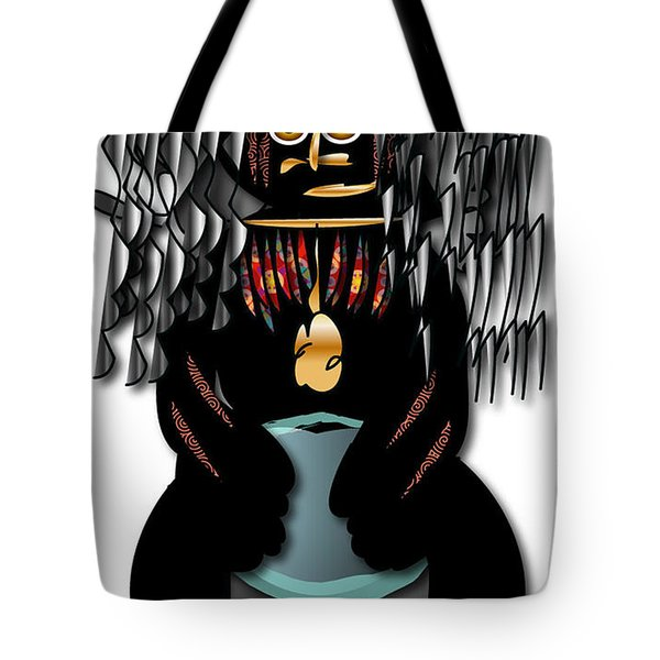 Tote Bag featuring the digital art African Drummer 2 by Marvin Blaine