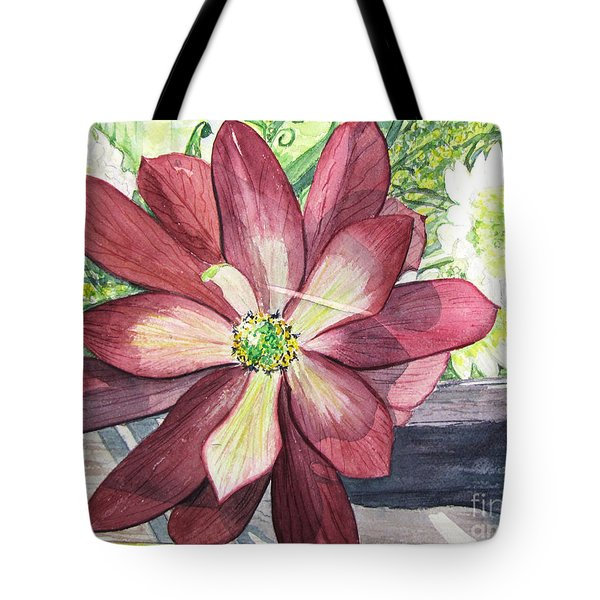Tote Bag featuring the painting African Flower by Carol Flagg