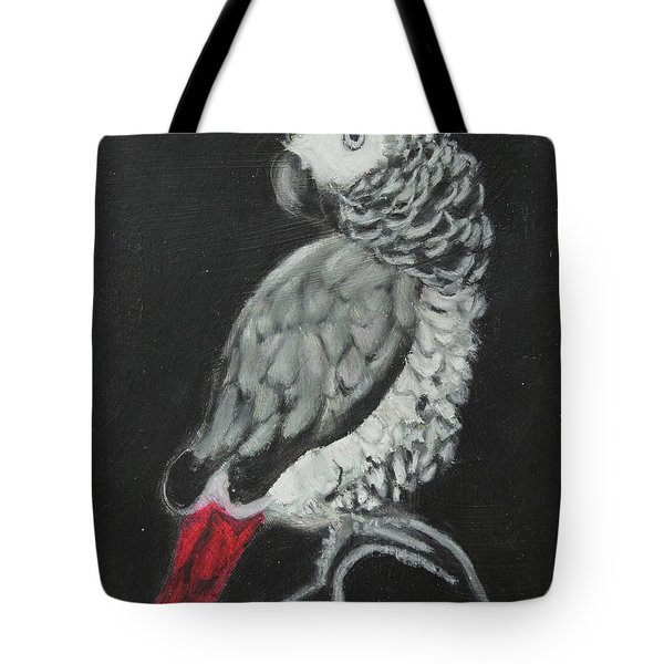 Tote Bag featuring the painting African Grey by Jeanne Fischer