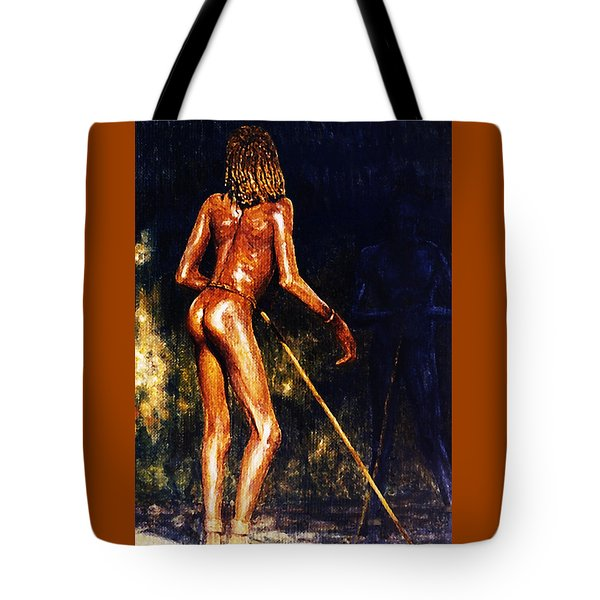 Tote Bag featuring the painting African Lady by Hartmut Jager