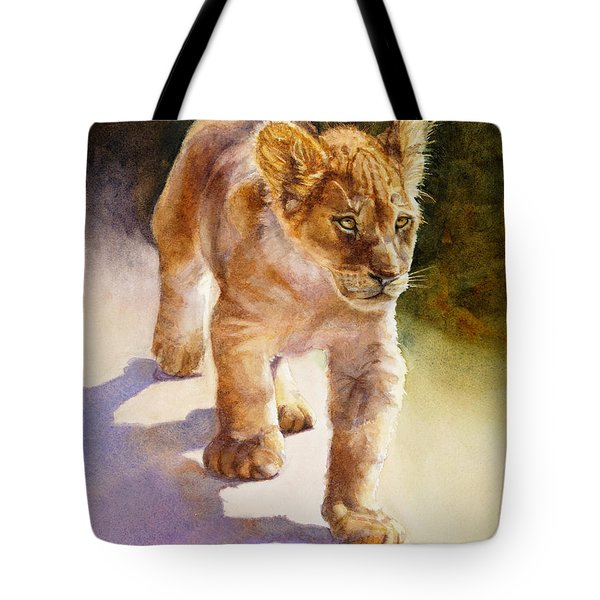 African Lion Cub Tote Bag