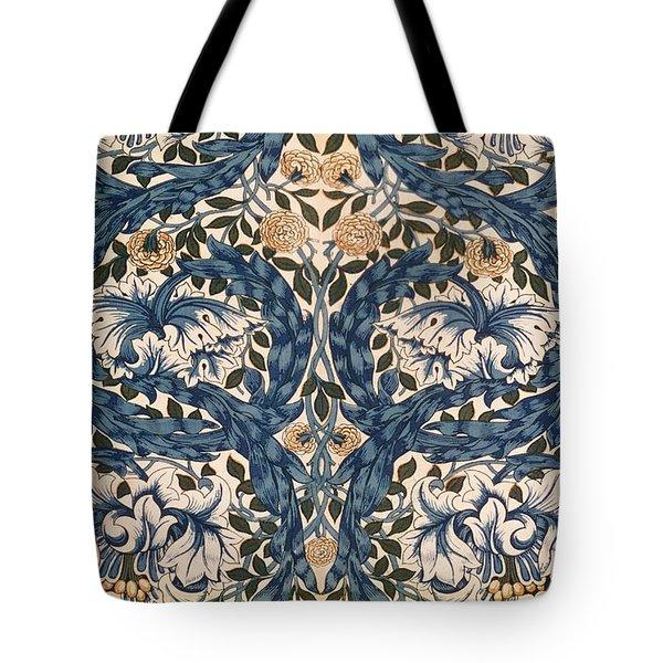 African Marigold Design Tote Bag by William Morris
