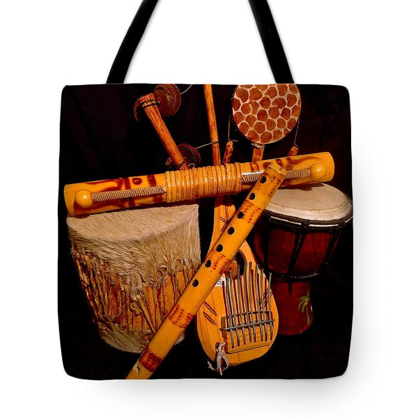 African Musical Instruments Tote Bag